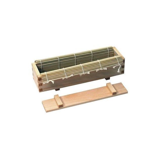 1 boîte en bois + 1 couvercle + 1 makisu