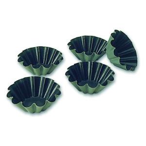 Moule Brioche 12 Côtes 6,5 cm x H 2,4 cm (x25) Matfer