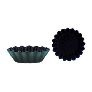 Moule Brioche Côtes Fines 9 cm x H 3,2 cm (x12) Matfer