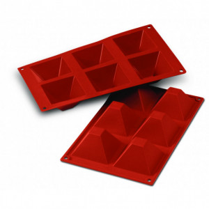 Moule Silicone 6 Pyramides 7,1 cm x H 4 cm Silikomart