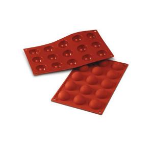 Moule Silicone 15 Demi-sphères 4 cm x H 2 cm Silikomart