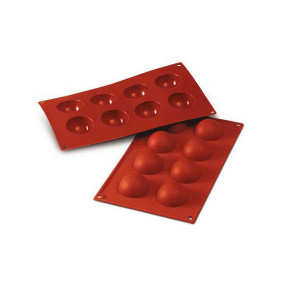 Moule Silicone 8 Demi-sphères 5 cm x H 3 cm Silikomart
