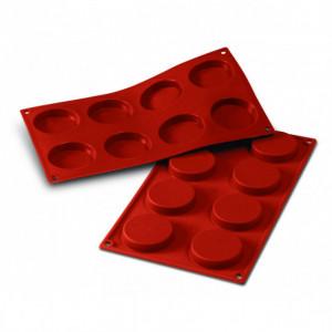 Moule Silicone 8 Florentins 6 cm x H 1,2 cm Silikomart