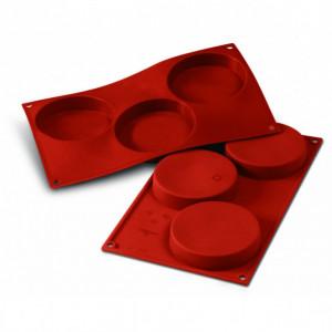Moule Silicone 3 Florentins 10,3 cm x H 2 cm Silikomart
