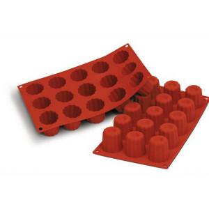 Moule Silicone 15 Cannelés 4,5 cm x H 4,5 cm Silikomart