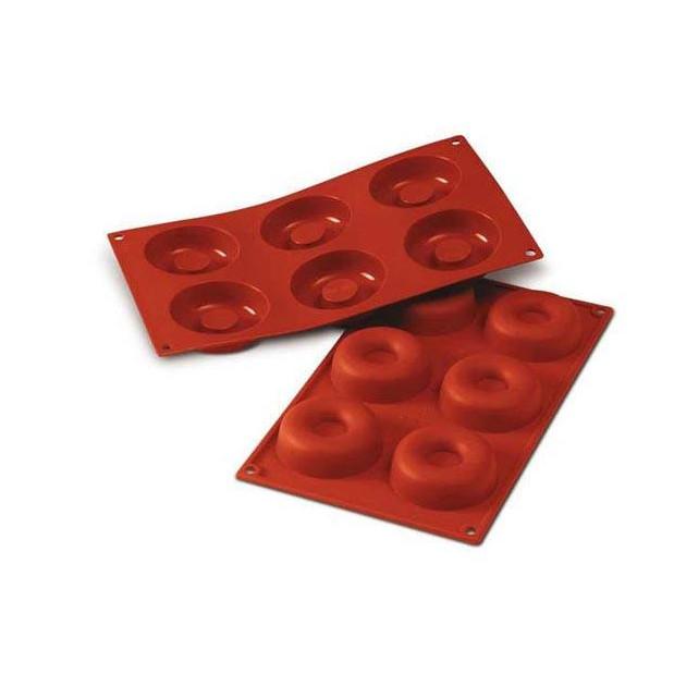 Moule Silicone Savarins 7,2 cm x H 2,3 cm (x6) Silikomart