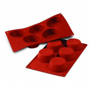 Moule Silicone 5 Muffins 8,1 cm x H 3,2 cm Silikomart