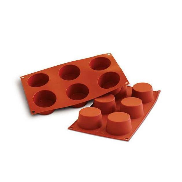 Moule Silicone 6 Muffins 6.8 cm x H 3.8 cm Silikomart