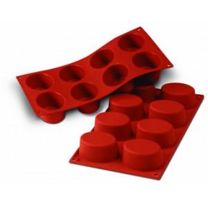 Moule Silicone 8 Ovales 7,5 x 5,5 cm Silikomart