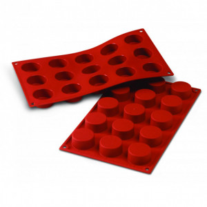 Moule Silicone 12 Cylindres 4,8 cm x H 5 cm Silikomart