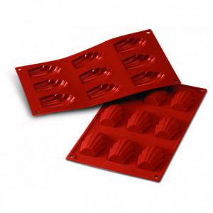 Moule Silicone 9 Madeleines 6,8 x 4,5 cm Silikomart