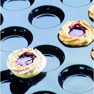 Moule Silicone 15 Florentins (quiches) 9 cm x H 0,8 cm Flexipan