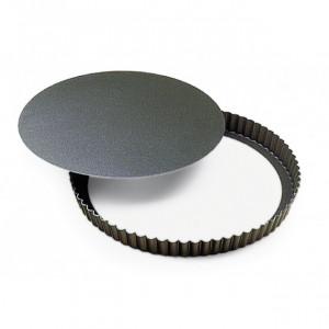 Tourtière Cannelée Fond Mobile 28 cm Gobel