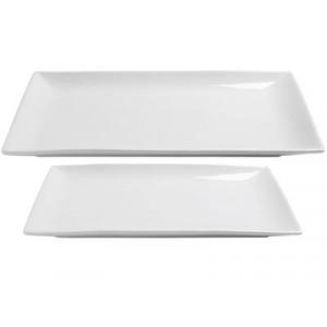 Assiette Plate Porcelaine Clélia 35 x 23 cm In Situ