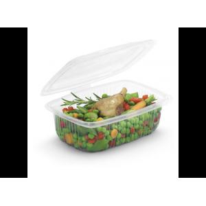 Boîte Plastique avec Couvercle 500 ml 14,2 x 12,3 cm x H 8,8 cm (x50) Ondipack