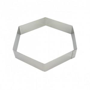 Hexagone à Mousse Inox 22 cm x H 4,5 cm Mallard