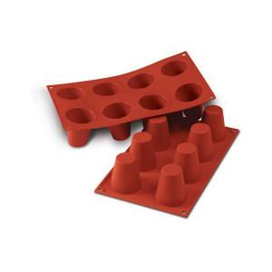 Moule Silicone 8 Babas 5,5 x 6 cm Silikomart
