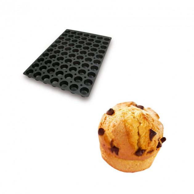 Moule Silicone 70 Mini Muffins Ø4.5 x 3 cm 40ml SilikoMart Professional