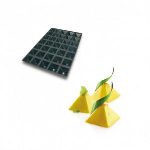 Moule Silicone 35 Pyramides 6,5 x 6,5 x 3,5 cm 61ml SilikoMart Professional