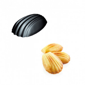 Moule Silicone 78 Madeleines 4,65 x 3,3 x 1,45 cm 11ml SilikoMart Professional