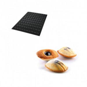 Moule Silicone 100 Mini Madeleines 4,5 x 2,6 x 1,2 cm 12ml SilikoMart Professional