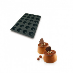 Moule Silicone 24 Muffins Ø6,9 x h3,9 cm 122ml SilikoMart Professional
