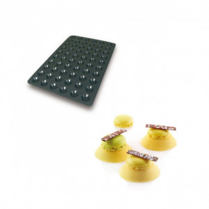 Moule Silicone 60 Mini Tartelettes Ø4,4 x 1 cm 10ml SilikoMart Professional