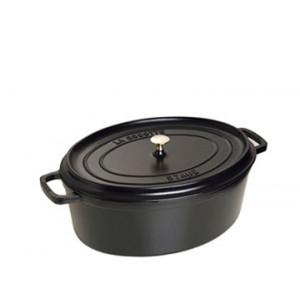 STAUB Cocotte Fonte Ovale 23 cm Noir Mat 2,35 L