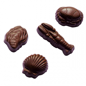 Moule Chocolat Coquillages et Crustacés (x24) Barry