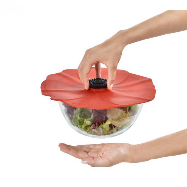 Conservez vos aliments hermetiquement grace au Couvercle en Silicone Coquelicot