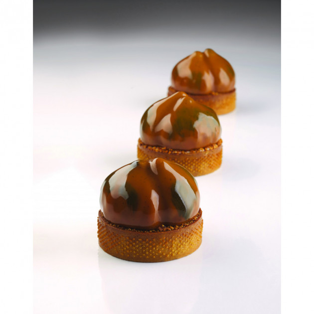 Moule Silicone 20 Marrons 65 ml Cedric Grolet Pavoni