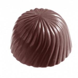 Moule Bonbon Chocolat Rond Strié (x24) Chocolate World