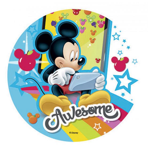 FIN DE SERIE Disque Azyme Mickey Smartphone 21 cm