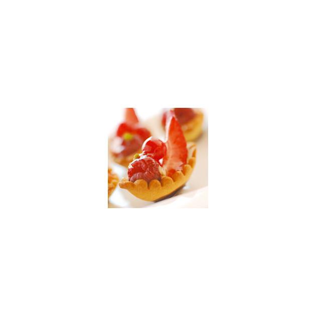 Moule Silicone Tartelette Ovale 10,6 x 4,7 cm x H 1,5 cm (x30) Silform