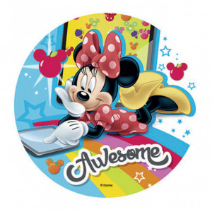 Disque Azyme Minnie Tablette 21 cm