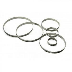 Cercle à Tarte Inox Ø22 cm H.2 cm Bords Roulés Gobel