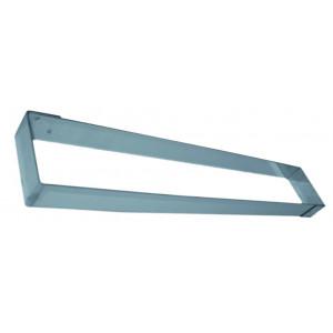 Rectangle Inox sans Fond 9 x 57 cm H.3,5 cm