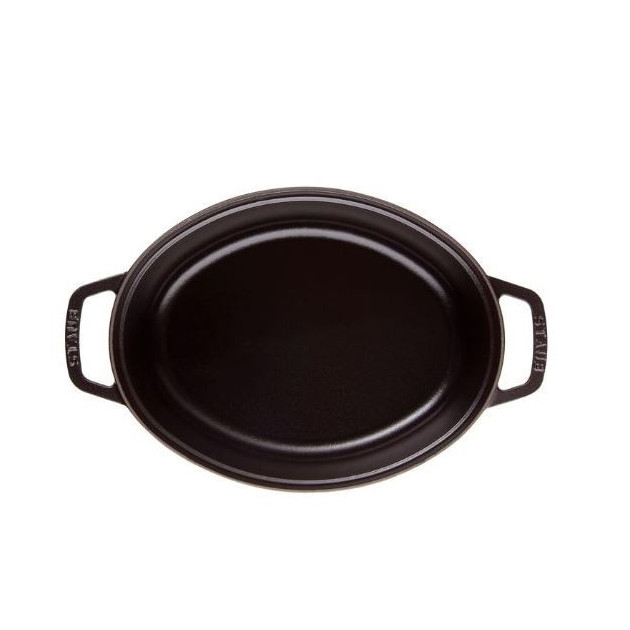 Cocotte Ovale 23 cm Noir Staub Fonte 2.35l