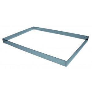 Rectangle Inox sans fond 49,5 x 29 cm H.4,5 cm