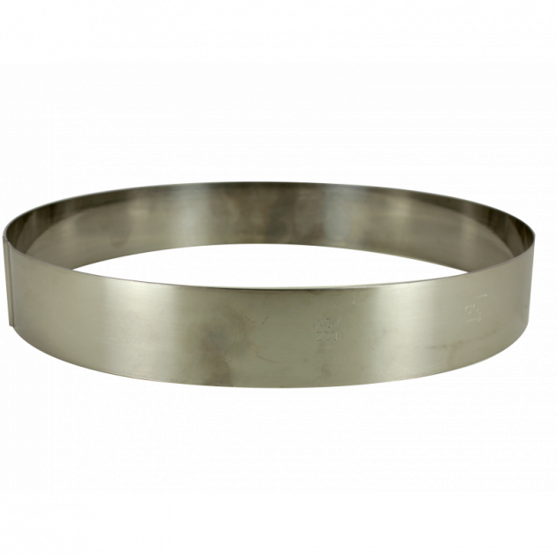 Cercle a Entremets Inox Ø 18 cm x 3.5 cm Gobel