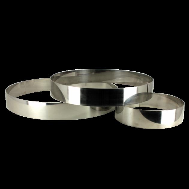 Cercle à Entremets Inox Ø 18 cm x 3,5 cm Gobel