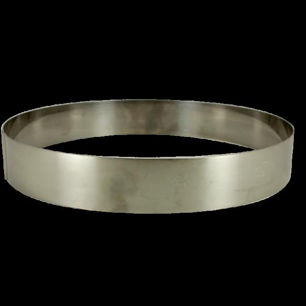 Cercle a Entremets Inox Ø 24 cm x 3.5 cm Gobel