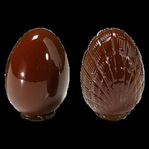 Moule à Chocolat Oeuf 10 cm Strié (x4) Barry