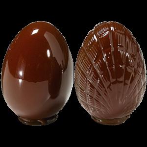 Moule à Chocolat Oeuf 150mm lisse et strié (x2) Barry