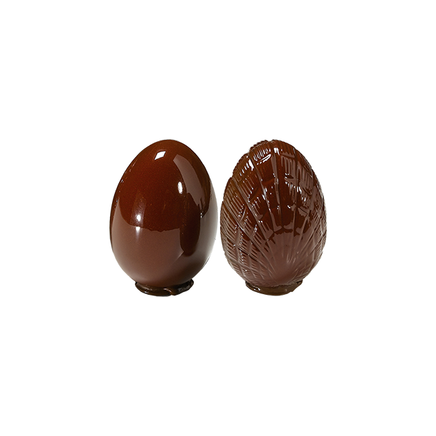 Moule a Chocolat Oeuf 150mm lisse et strie (x2) Barry