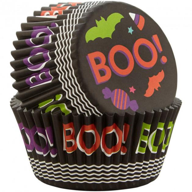 Caissette Cupcake Boo ! Ø5 cm x75 Wilton