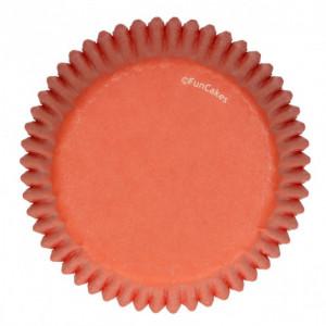 Caissette Cupcake Orange Ø5 cm x48 Funcakes