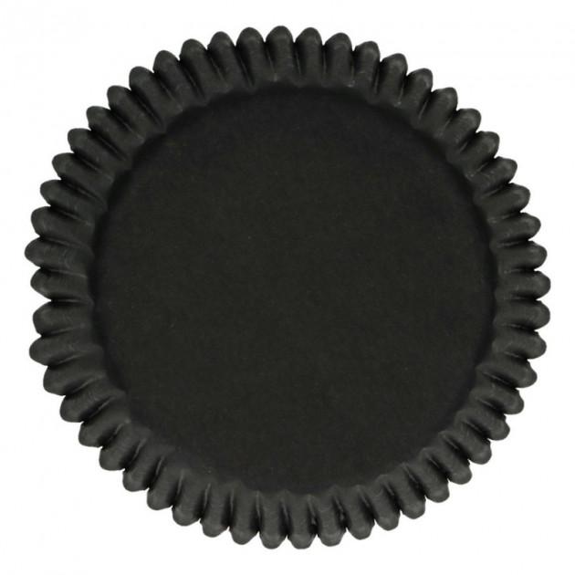 Caissette Cupcake Noir Ø5 cm x48 Funcakes