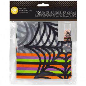 Sac à Bonbon Toile d'Araignée 13 x 8 x H 21 cm (x10) Wilton