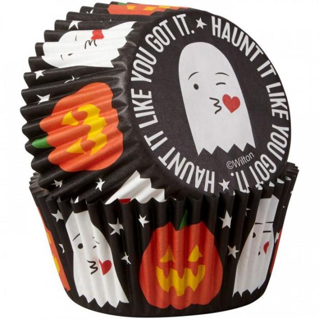 Caissette Cupcake Fantome Emoji ø5cm (x75) Wilton